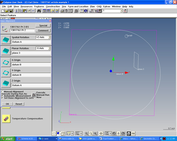 true position with zeiss calypso part 1 rh cmmquarterly mbccmm com Zeiss Eclipse CMM Zeiss CMM Size