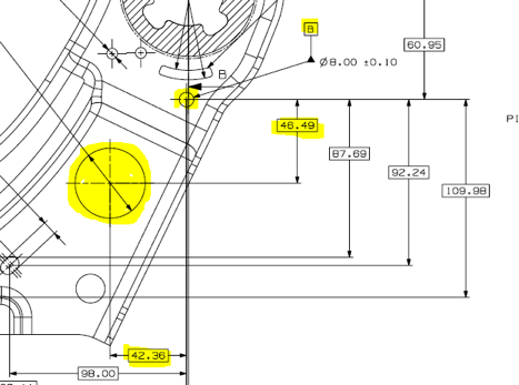 Offset alignment in CMM software
